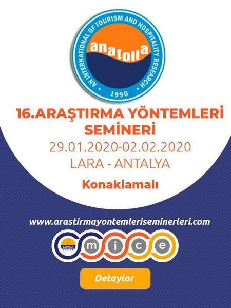 Picture of 16. Araştırma Yöntemleri Semineri (Konaklamalı)